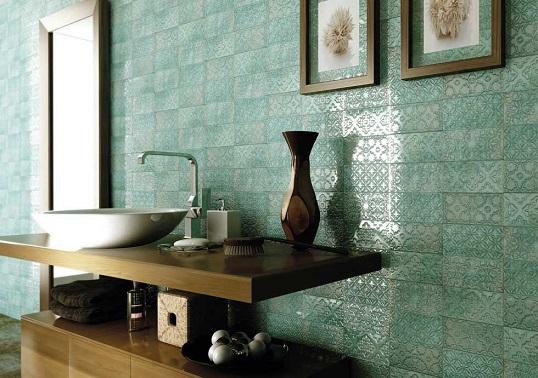 Новая коллекция плитки для ванной под бирюзовый кирпичик