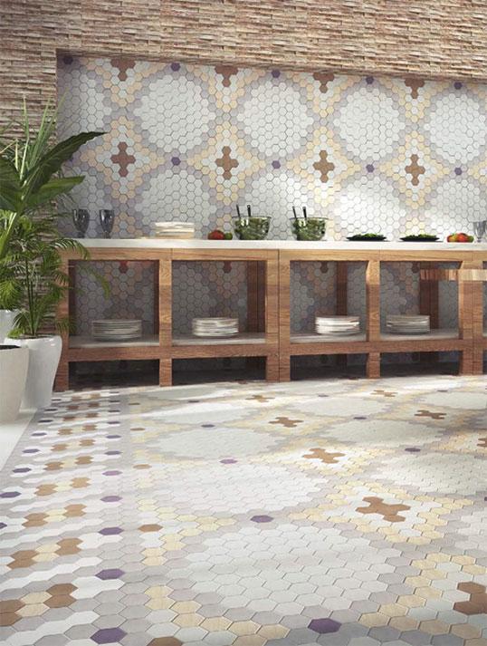 Шестиугольная плитка с модным современным дизайном