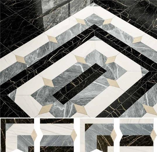 Геометричное панно под мрамор, новинка 2018