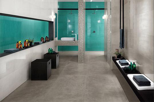 Модная плитка большого размера для ванной комнаты в стиле Tiffany
