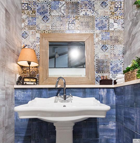 Новая коллекция плитки для ванной 2016 с декором пэчворком