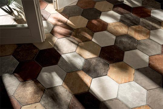 Модная плитка шестиугольной формы с внтажным эффектом