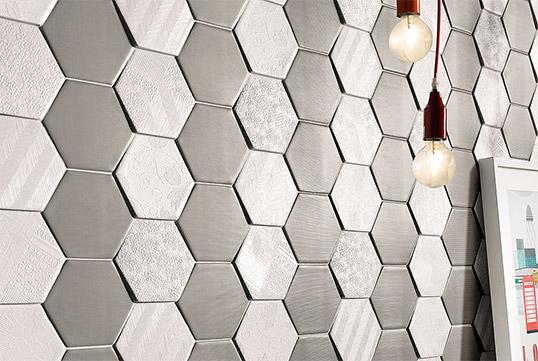 Рельефная плитка шестиугольник для стен