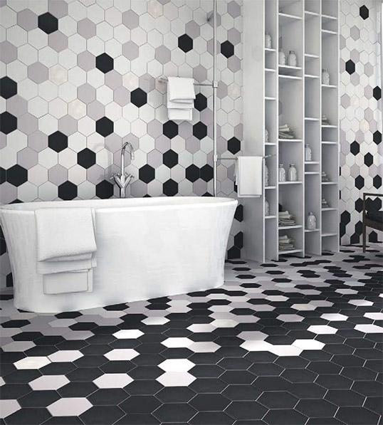 Плитка шестиугольник для ванной