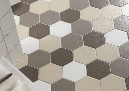 Настенная и напольная шестиугольная плитка