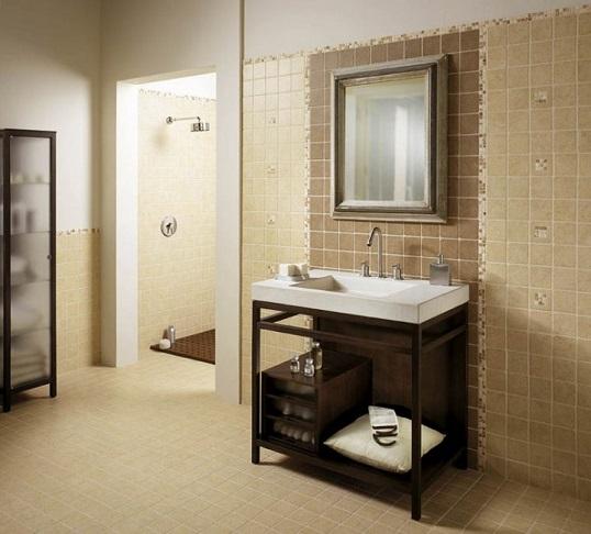 Плитка 10х10 см под камень для ванной