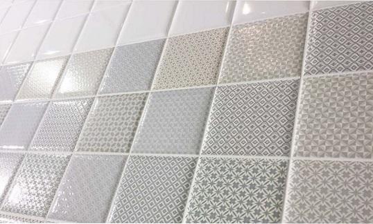 Плитка 10х10 для ванной с декорами в пастельной гамме, новинка 2017