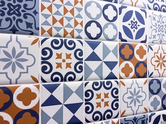 Плитка со средиземноморским орнаментом с эффектом 10х10, новинка 2017
