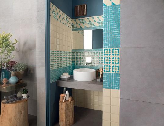 Плитка 10х10 см в стиле прованс для ванной