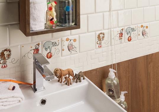 Плитка 10х10 см для детской ванной комнаты