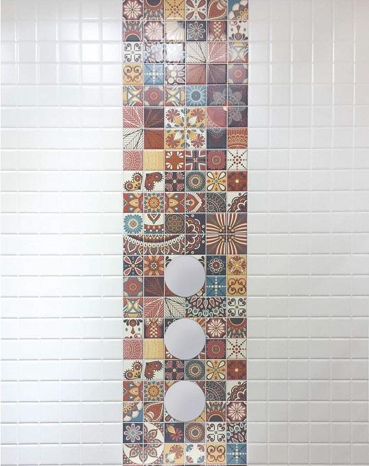 Плитка 10х10 для ванной в стиле оп-арт, новинка 2017