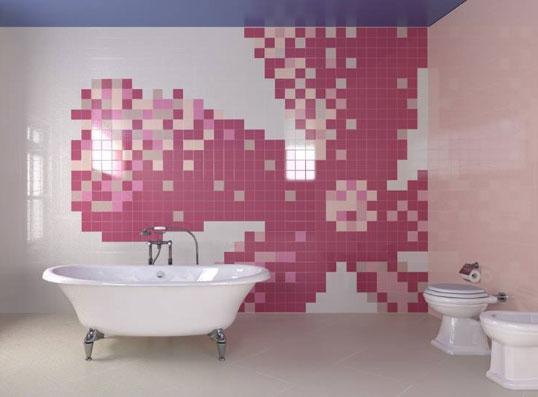 66 оттенков глянцевой плитки 10х10 см для ванной комнаты