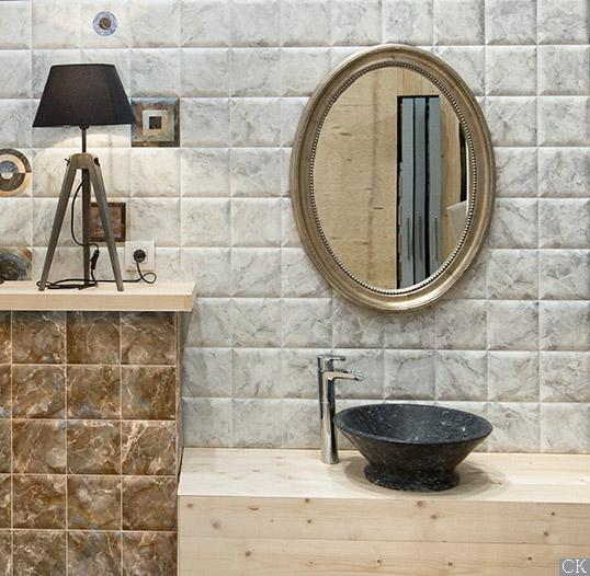 Керамическая плитка под камень 15х15 см для ванной