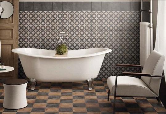 Дизайнерская плитка 20х20 см для ванной комнаты