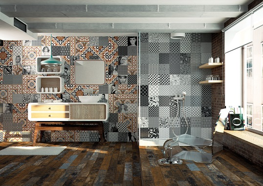 Дизайнерская плитка 20х20 см для стен ванной комнаты