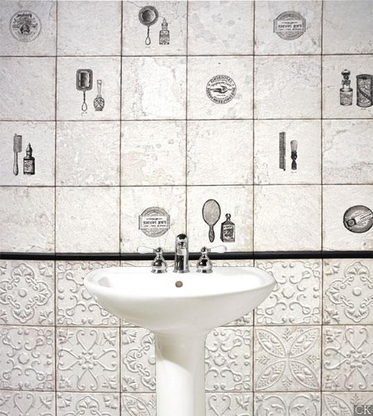 Винтажная плитка 20х20 см для стен ванной комнаты