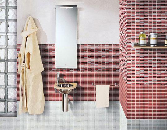 Плитка под мозаику формата 20х20 см, для ванной
