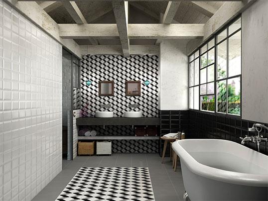 Керамическая плитка 20х20 см с геометрическим рисунком