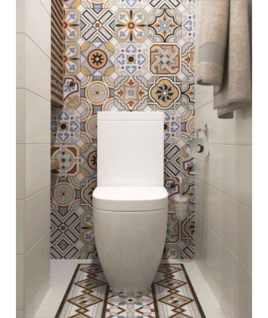 Яркая матовая декоративная плитка для ванной 20х20 см