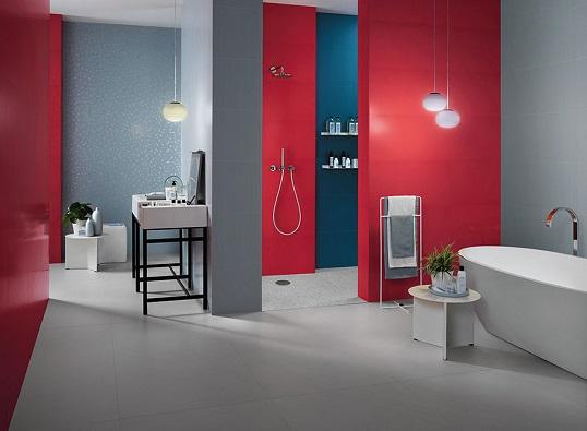 Плитка большого размера красного цвета для ванной, новинка 2017