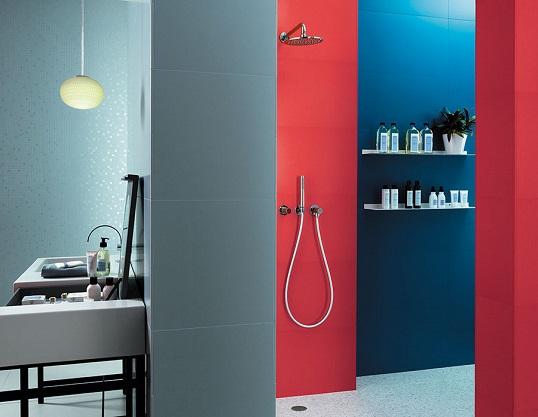 Большая плитка голубого цвета для ванной, новинка 2017