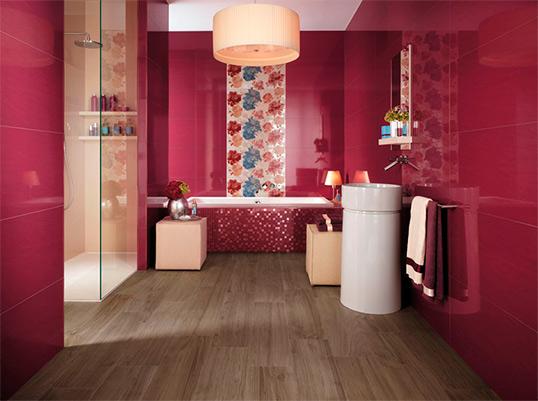 Керамическая плитка большого размера для ванной комнаты