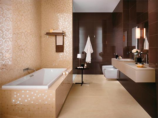Настенная плитка для большой ванной