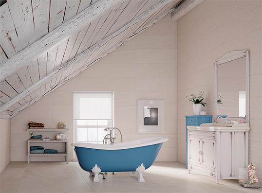 Плитка большого размера для ванной комнаты