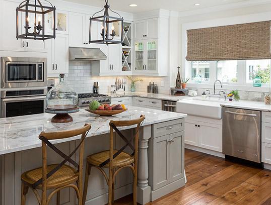 Плитка на кухонный фартук в стиле прованс
