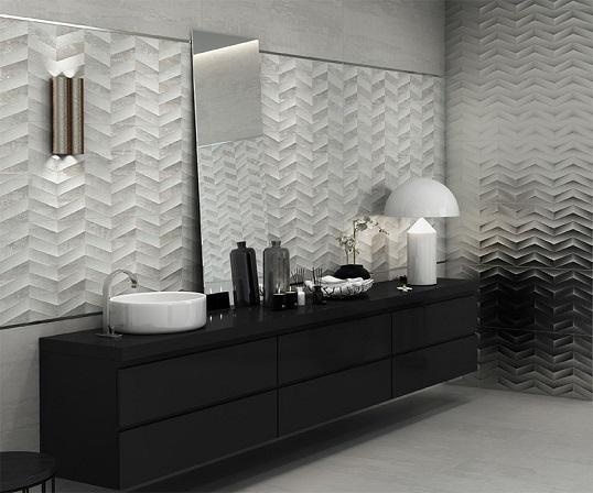 Новая коллекция плитки под бетон с металлом, Италия