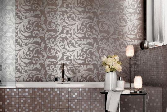 Итальянская плитка для ванной с цветочным узором
