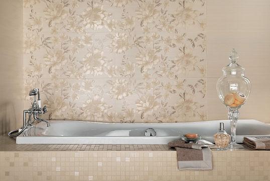 Плитка для ванной с цветами