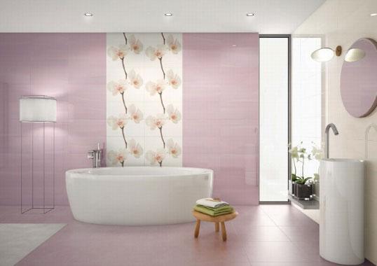 Плитка с орхидеями для ванной