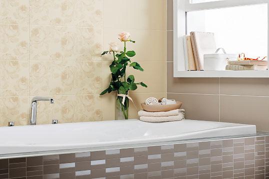 Плитка с розами для ванной