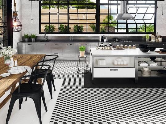 Черно-белая плитка с рисунком кубы, хит продаж