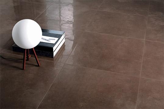 Коричневая плитка под бетон на пол