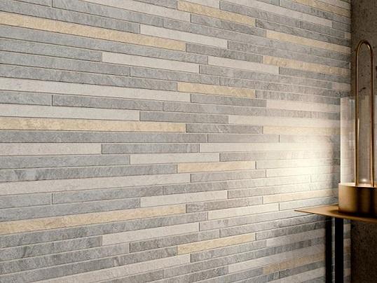 Плитка под многоцветную каменную мозаику для кухни