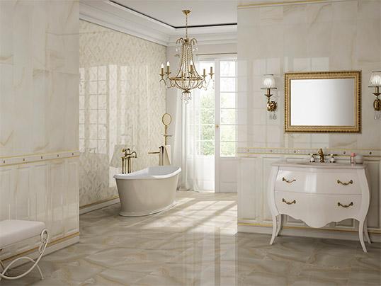 Большая плитка под камень для ванной