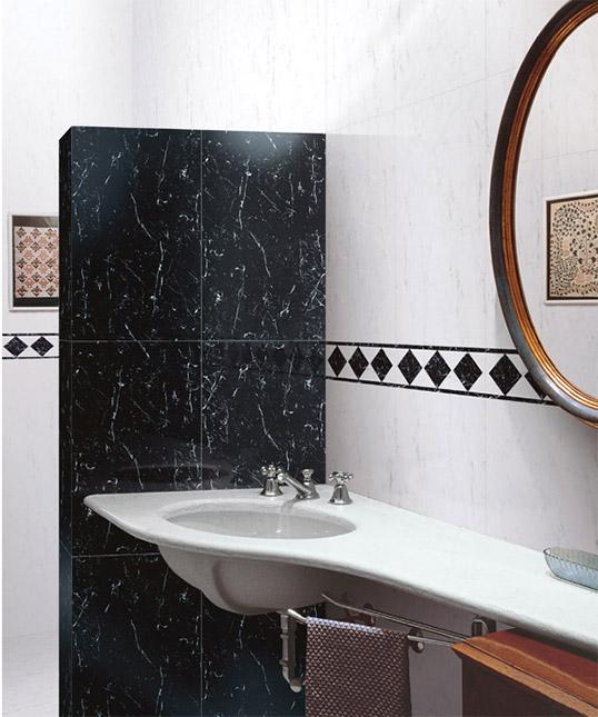 Черно-белая плитка под мрамор  для ванной, распродажа!