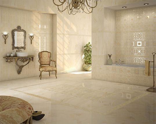 Испанская плитка под камень для ванной комнаты