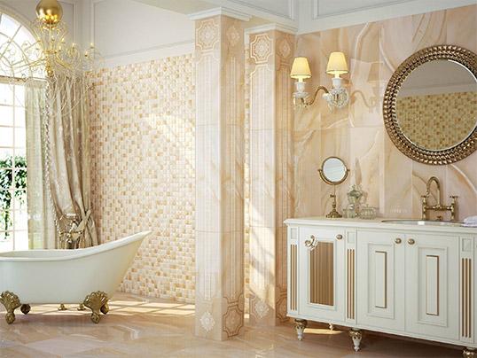 Плитка под оникс для ванной комнаты