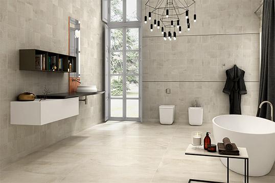 Рельефная плитка под камень для ванной комнаты
