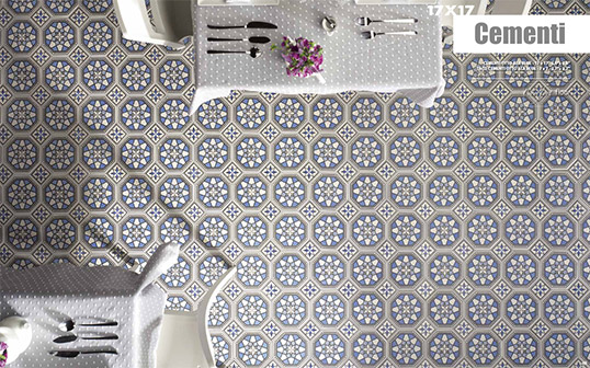 Напольная плитка с восточным орнаментом