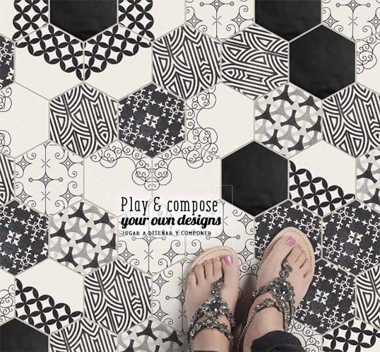 Шестиугольная плитка с изысканным узором