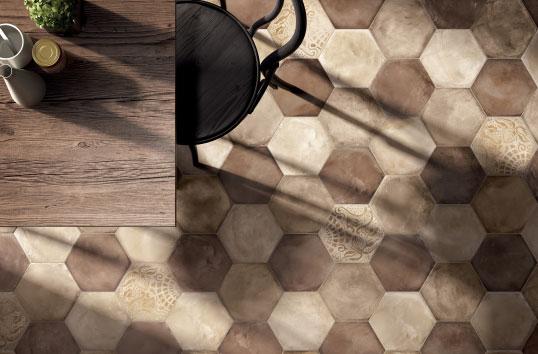 Шестиугольная плитка с рисунком