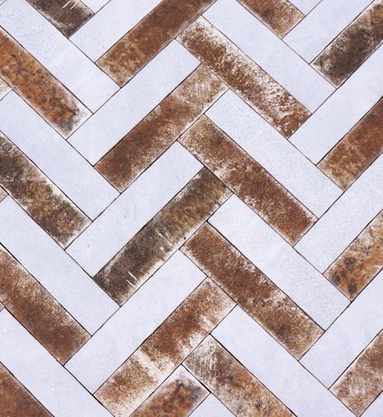 Дизайнерская плитка в укладке елочкой