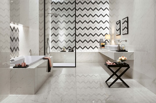 Итальянская плитка шеврон для стен