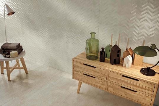 Керамическая плитка-эксклюзив с декорами шеврон