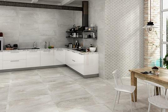 Имитация бетона для пола ванной комнаты в индустриальном стиле