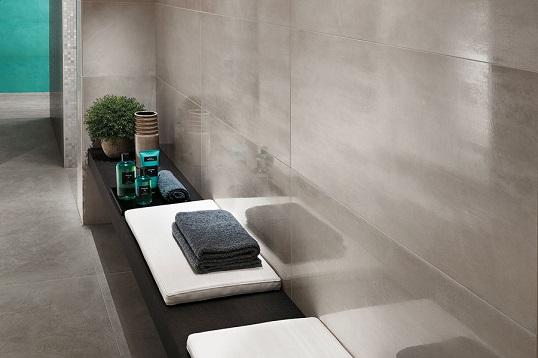 Дымчатая плитка в силе LOFT для ванной комнаты